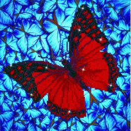 DD5.020 Diamond painting kit - Flutter by red