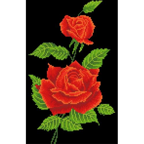 DD5.025 Diamond painting kit - Red rose corsage