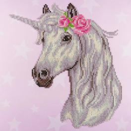 DA49298 Diamond painting kit - Unicorn