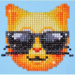 DD1.010 Diamond painting kit - Cool cat