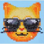 Diamond painting kit - Cool cat