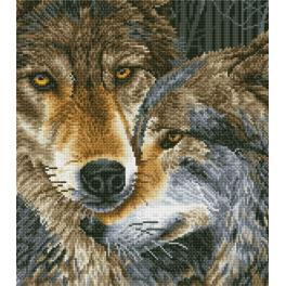 DD10.024 Diamond painting kit - Muzzle nuzzle wolves