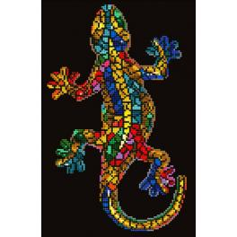 DD6.002 Diamond painting kit - Gekko paua