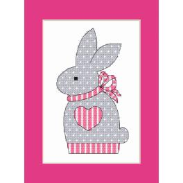W 10204-02 Pattern online - Postcard with a bunny