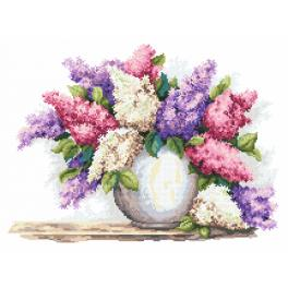 Cross stitch kit - Magic lilacs