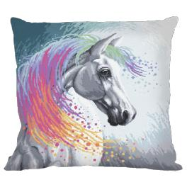 W 10203-01 ONLINE pattern pdf - Pillow - Enchanted horse