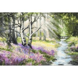 K 10161 Tapestry canvas - Spring forest