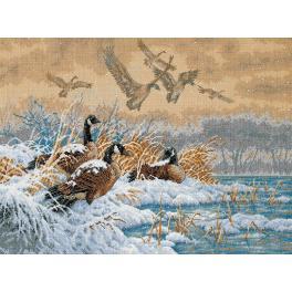 Cross stitch kit - Winter retreat