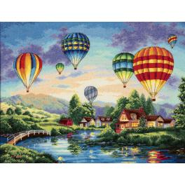 Cross stitch kit - Balloon glow