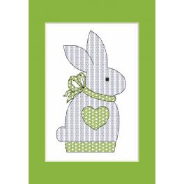 Cross stitch kit - Postcard with a bunny