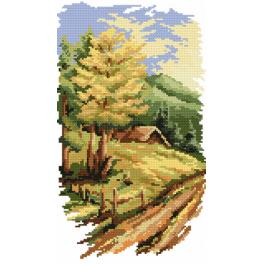 K 4524 Tapestry canvas - Four seasons - summer