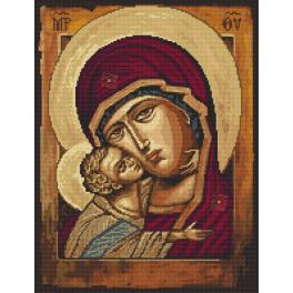 Cross stitch pattern - Icon of the Mother of God with the child