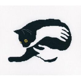 Cross stitch set - Among black cats