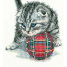 Cross stitch set - Playful kitten