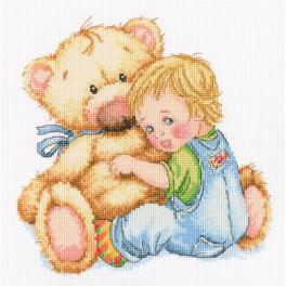 Cross stitch set - Beloved teddy