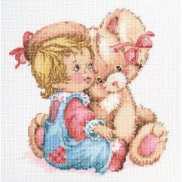 Cross stitch set - Tender bunny