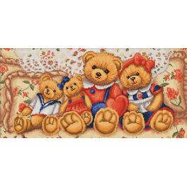 M AZ-1645 Diamond painting kit - Teddy bears