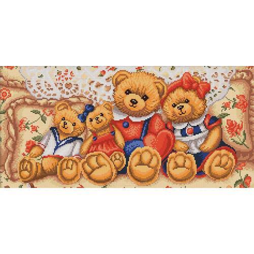 M AZ-1645 Diamond painting kit - Teddy bears