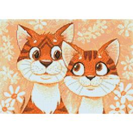 Diamond painting kit - Cats in love