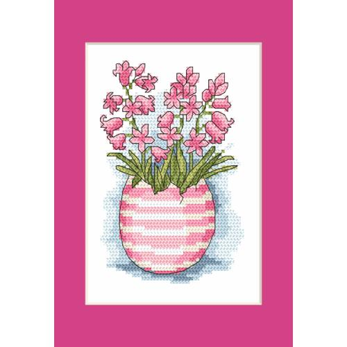 Pattern ONLINE - Postcard with scilla