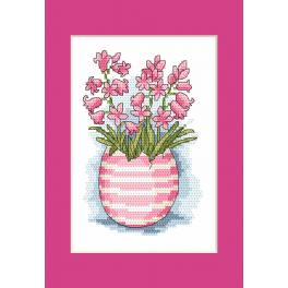 Cross stitch kit - Postcard with scilla