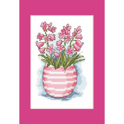 Cross stitch kit - Postcard with scilla