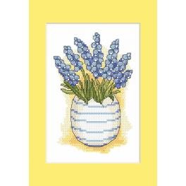 W 10205-03 Pattern ONLINE - Postcard with sapphires