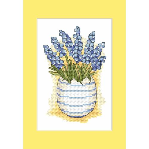 Cross stitch pattern - Postcard with sapphires