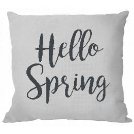 Cross stitch kit - Pillow - Hello Spring