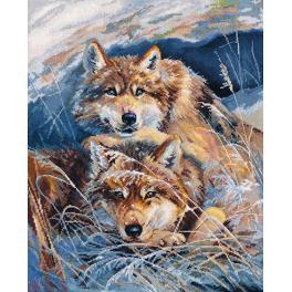 Cross stitch kit - Idyll of wolves