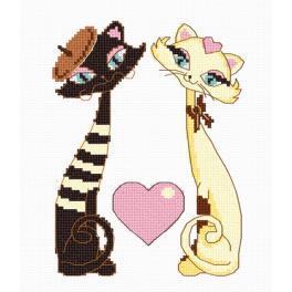 Cross stitch kit - Cats love