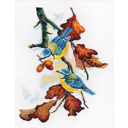 OV 910 Cross stitch kit - Blue tits