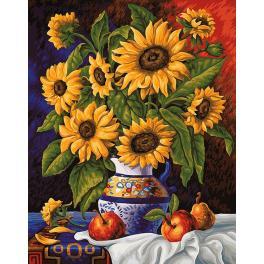 Diamond painting kit - Sunflowers' bunch