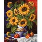 Diamond painting kit - Sunflowers' bunch