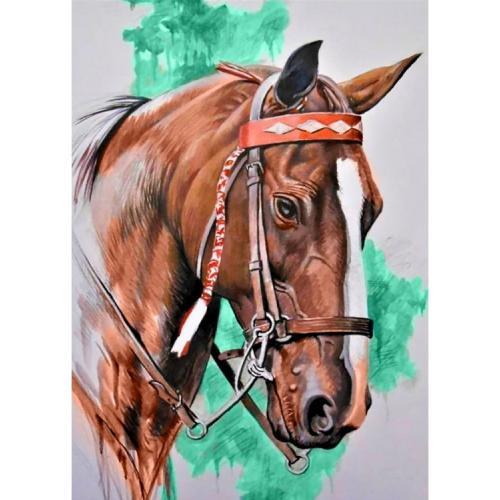 ZTDE 080 Diamond painting kit - Horse's head