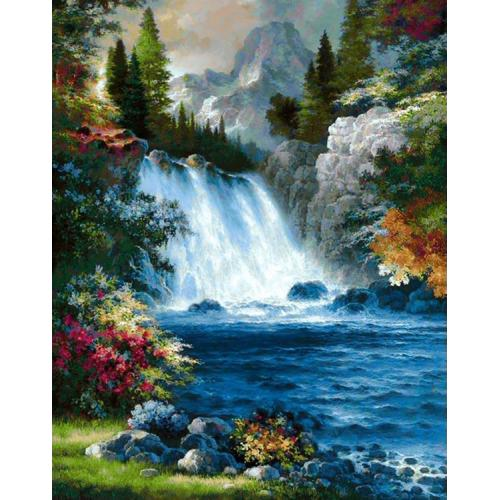 ZTDE 1008 Diamond painting kit - Waterfall
