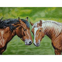 Diamond painting kit - Horses