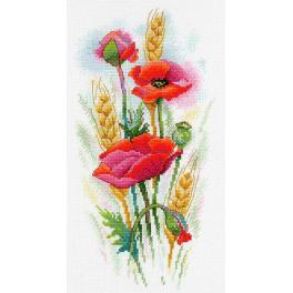 Cross stitch kit - Poppy charm