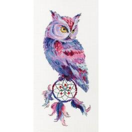 RF 034 Cross stitch kit - Dream catcher with an owl