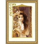 RGT 040 Cross stitch kit with mouline and beads - Jasmine