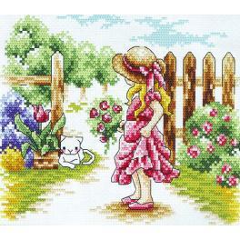 Cross stitch kit - Fence girl