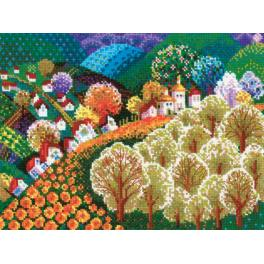 Cross stitch kit - Valley of fairytale