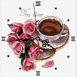 Cross stitch kit - Clock with roses