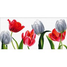 Cross stitch kit - Six tulips