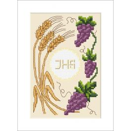 Cross Stitch pattern - Holy communion card
