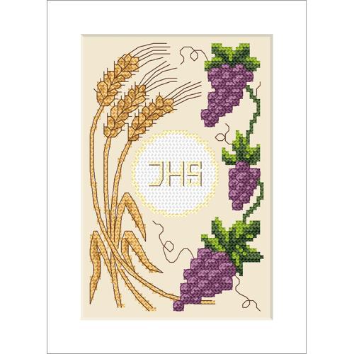 Cross Stitch pattern - Holy communion card