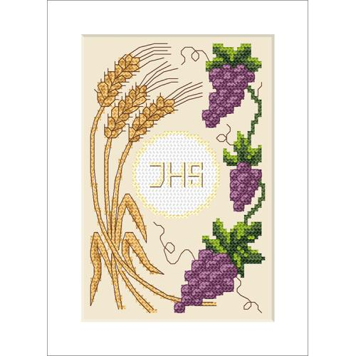 Cross stitch kit - Holy communion card