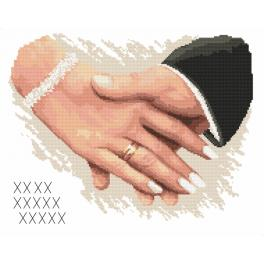 Cross stitch set - Wedding memory - Hands