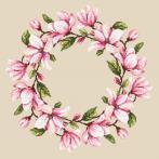 Pattern ONLINE - Napkin with magnolia