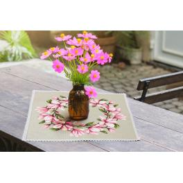 Cross stitch pattern - Napkin with magnolia